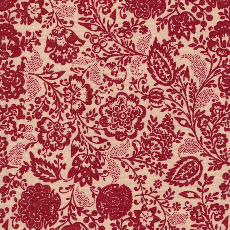 Chafarcani Rouge Oyster Carmine by French General for Moda Fabric