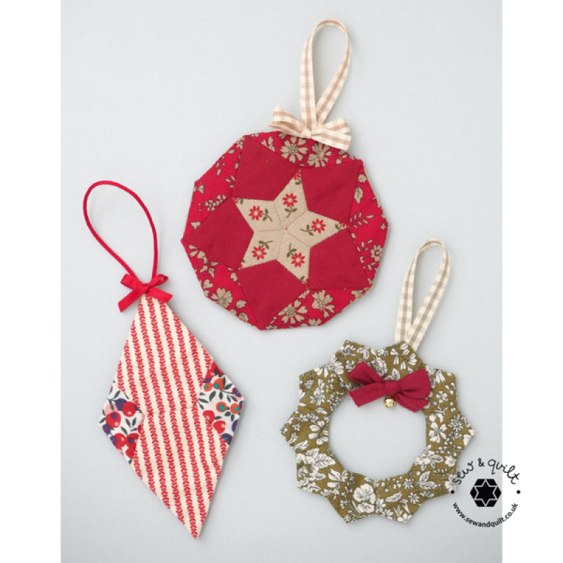 Christmas Tree Trinkets Ornaments Pattern Paper Pieces Kit Sew