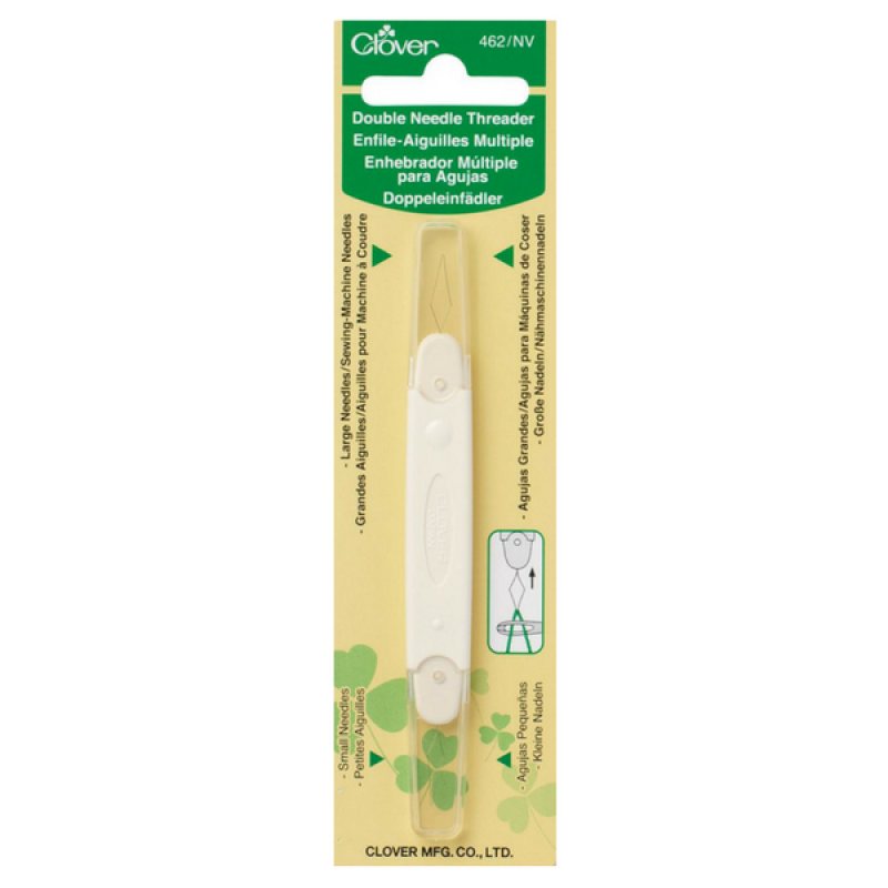 Clover-double-needle-threader-UK-quilting-patchwork