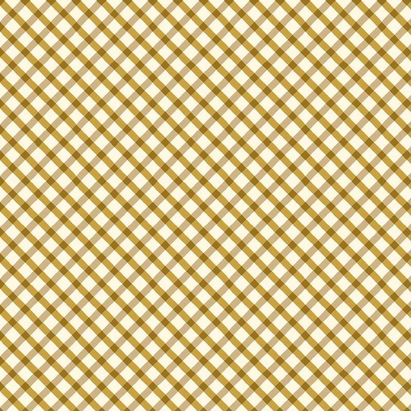 Williamsburg Brass Diagonal Plaid   52408-4