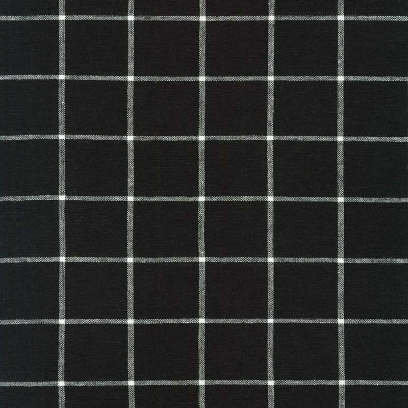 Essex Linen Yarn Dyed Classic Wovens Black | 17585-2