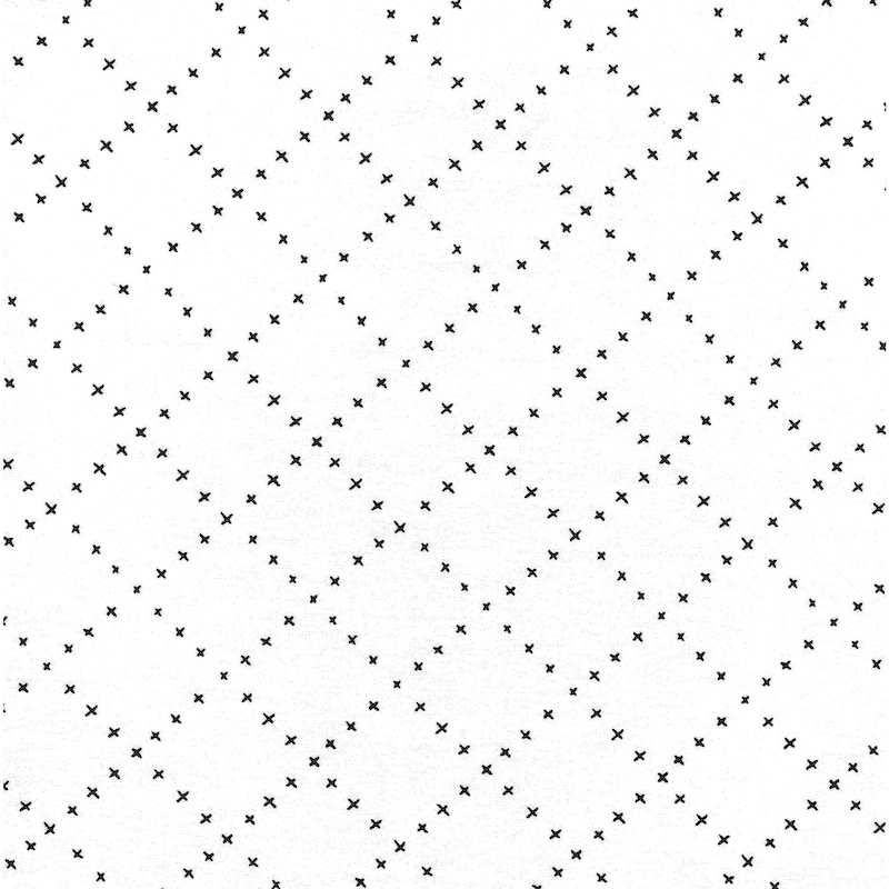Farm Charm Cloud White Lattice | 48297-11 cotton fabric