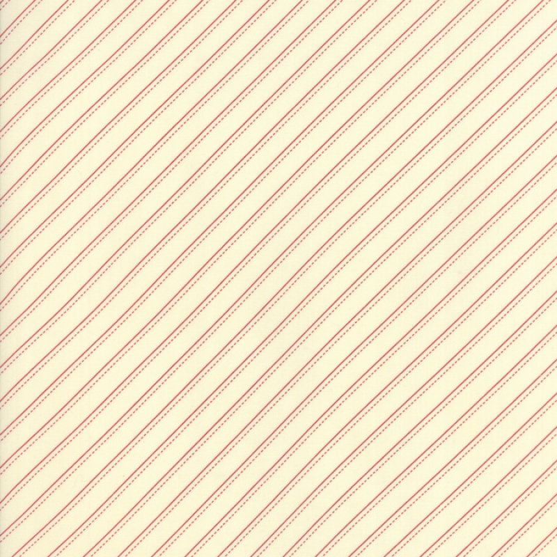 Farmhouse Reds Ivory Red Bias Stripe 14853-13