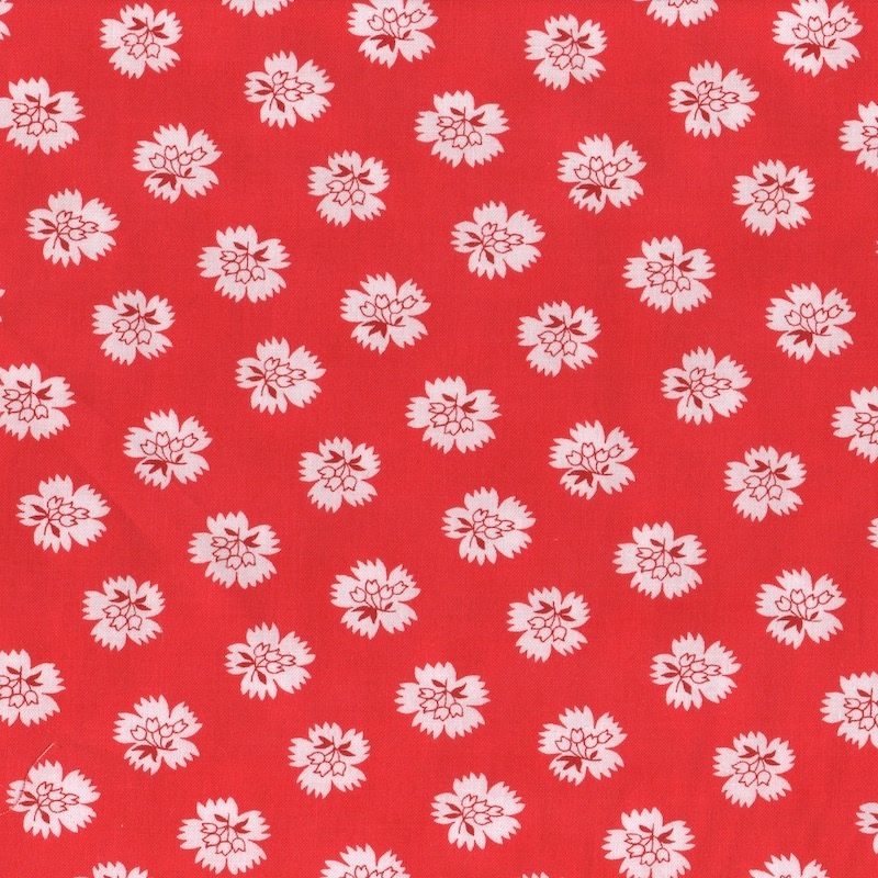 Feed-Sack-Red-Rover-Moda-fabric-ruby-red-UK