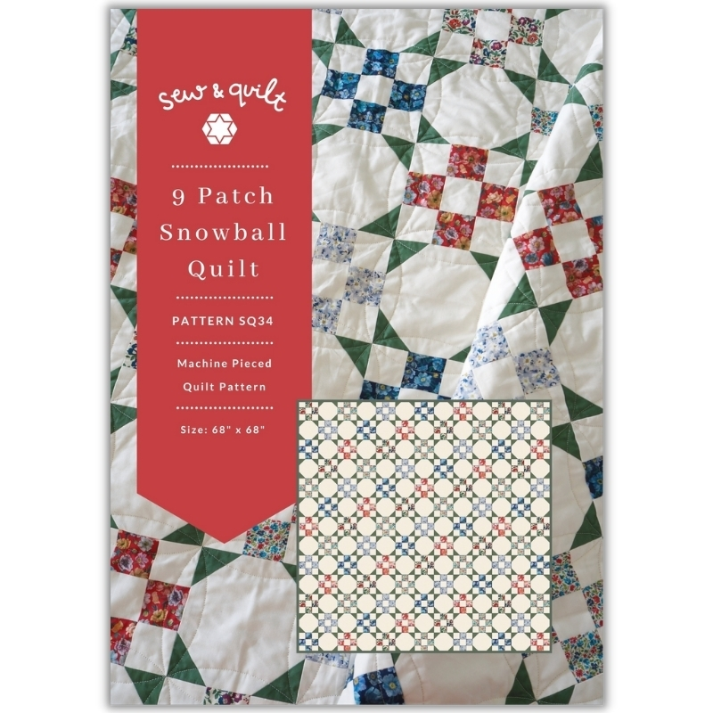 Free 9 Patch Snowball Quilt Pattern