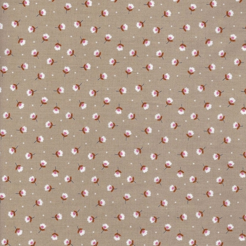 Gather Taupe Buds quilt fabric 52677-8