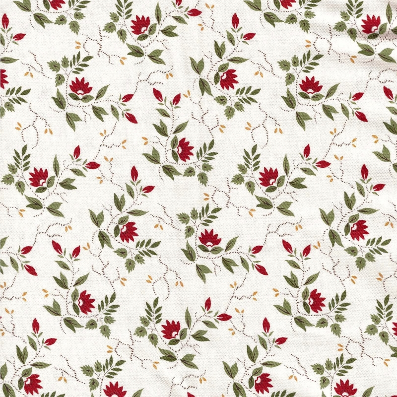 Glad Tidings Red Floral on Cream | 38093-13