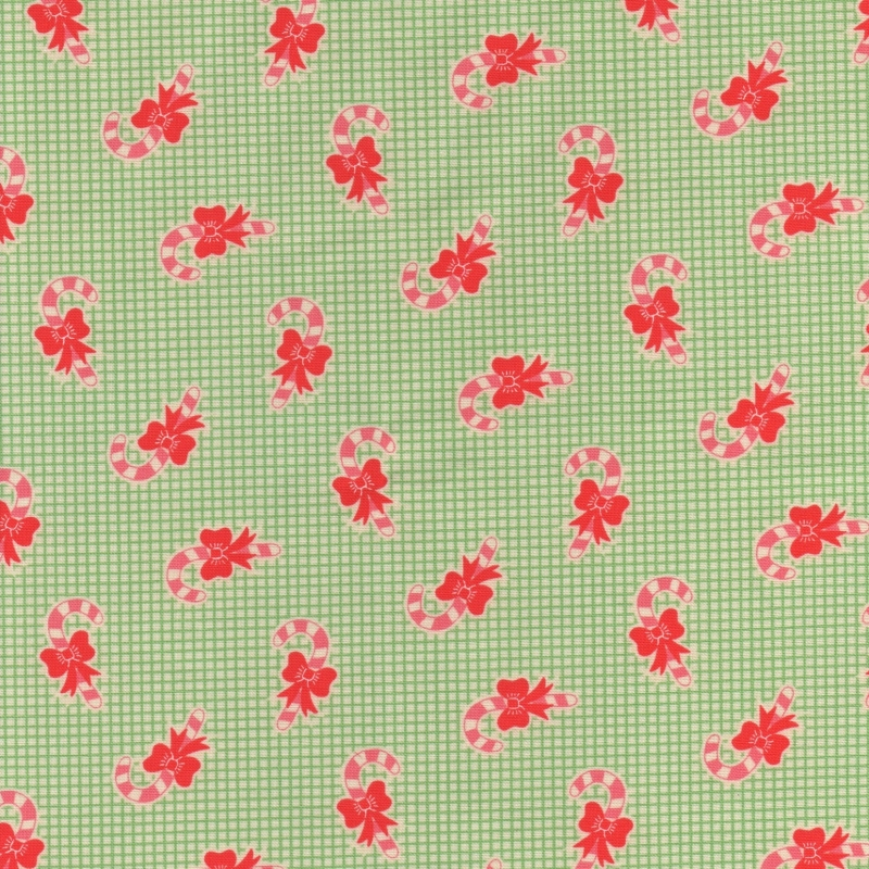Good-Tidings-Christmas-Gingham-Fabric-UK