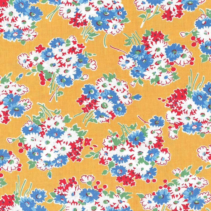Good Times Yellow Bouquet | 21771-14 cotton fabric