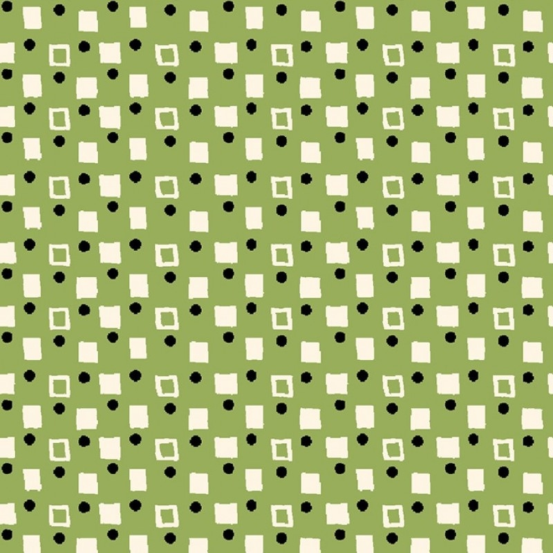 Playdate With Friends, Green Fancy Squares   CX9498-GREE