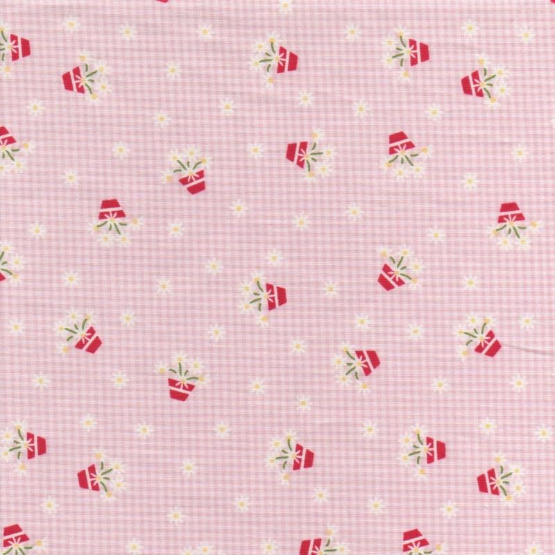 Gretal Gingham Pink C7832-Pink