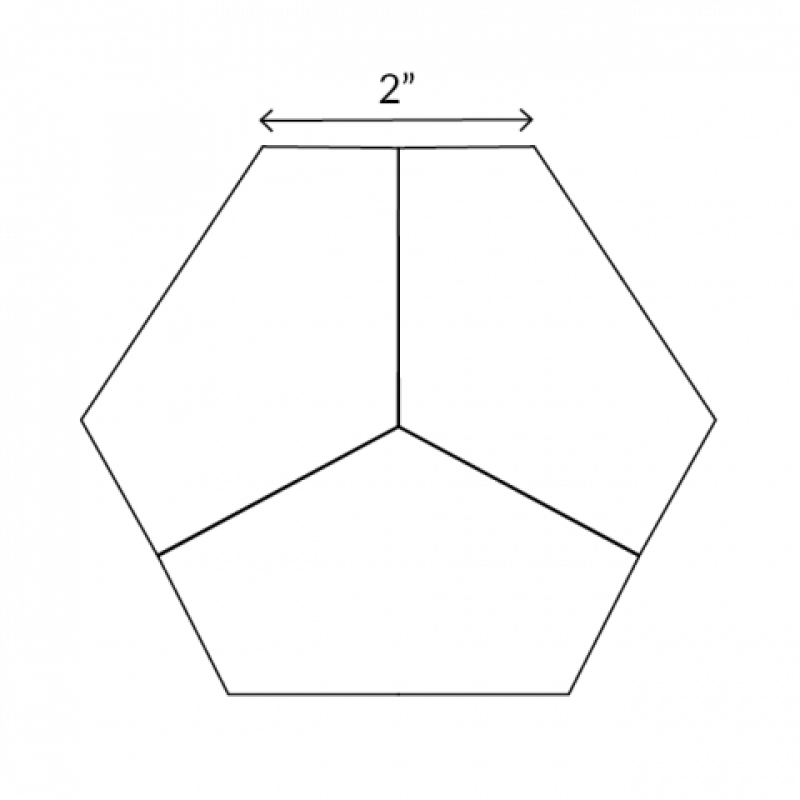English-Paper-Pieces-2-Hexagon-Third