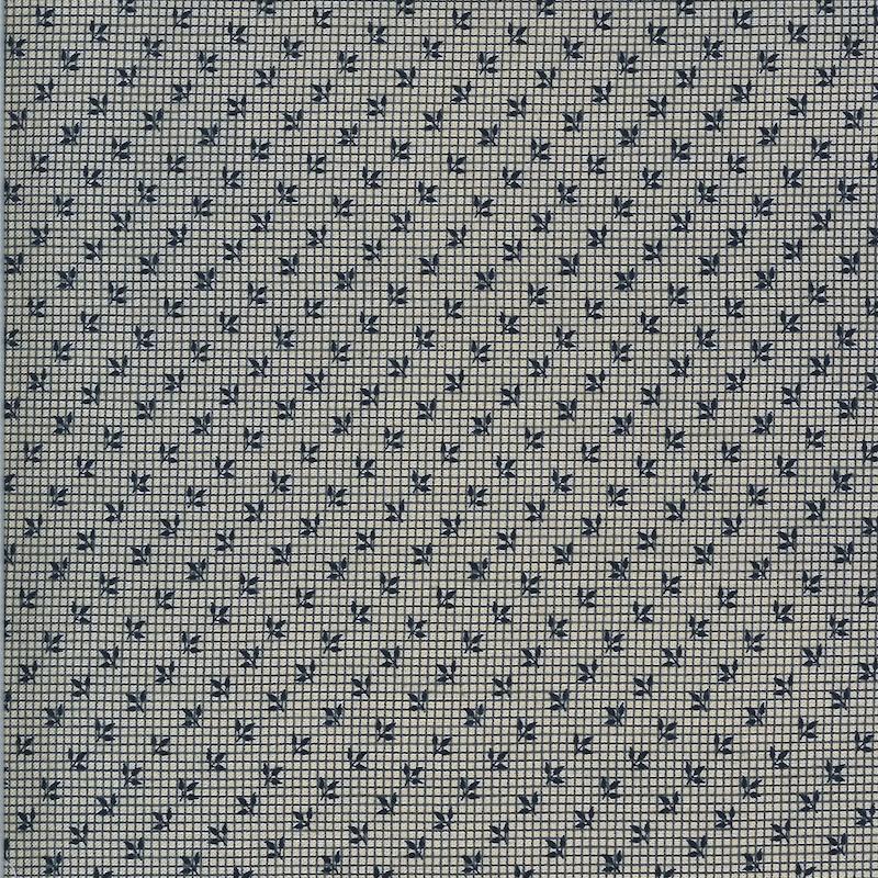 Hopewell Indigo Floral Grid   38117 29