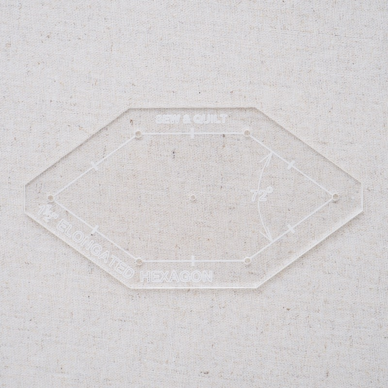 "Acrylic Cutting Template 1-1/2"" Irregular Honeycomb"
