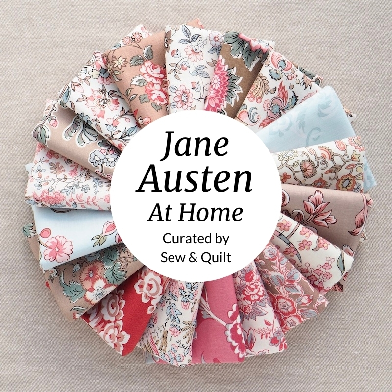 Jane Austen At Home quilting fabric, fat quarter bundle