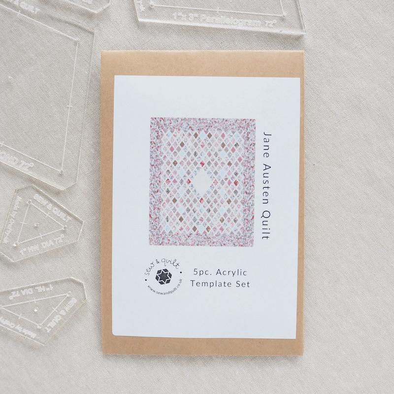 The Jane Austen Quilt Acrylic Template Set