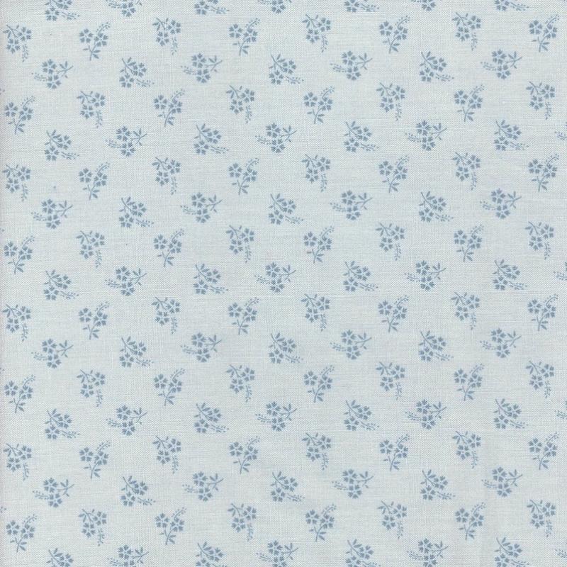 Jardin De Fleurs Ciel Blue Tonal   13897-19 cotton fabric