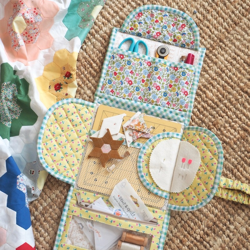 Jet Set Sewing Station pattern by Jessie Fincham