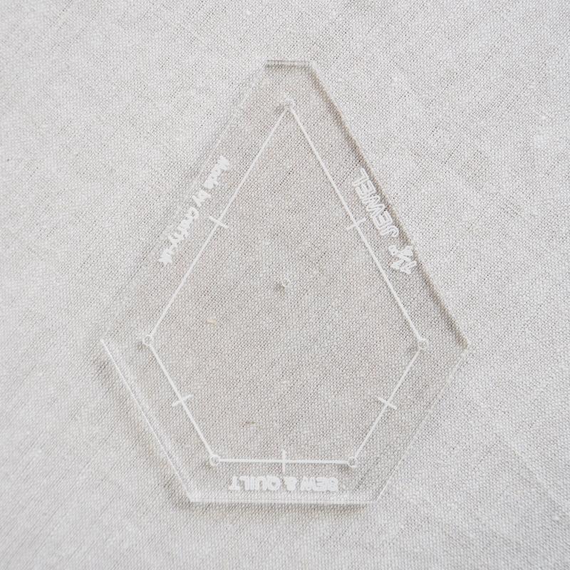 """Acrylic Cutting Template 1-1/4"""" x 2-1/2"""" Jewel"""