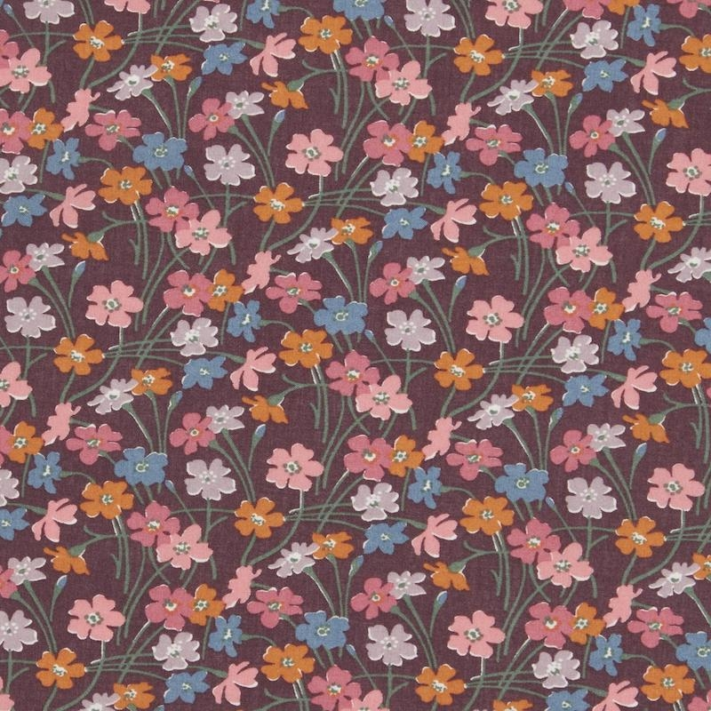 Liberty-Buttercup-C-brown-pink-fabric-cotton