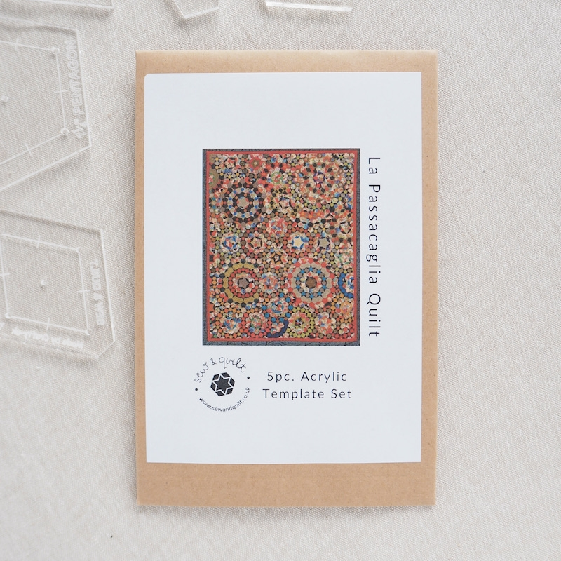 La Passacaglia quilt by Willyne Hammerstein acrylic template set