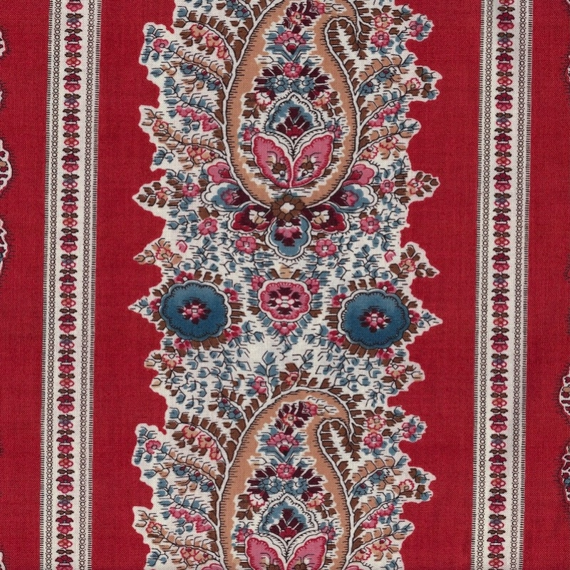 Ladies Legacy Cooper Red Julia's Counterpane cotton quilting fabric
