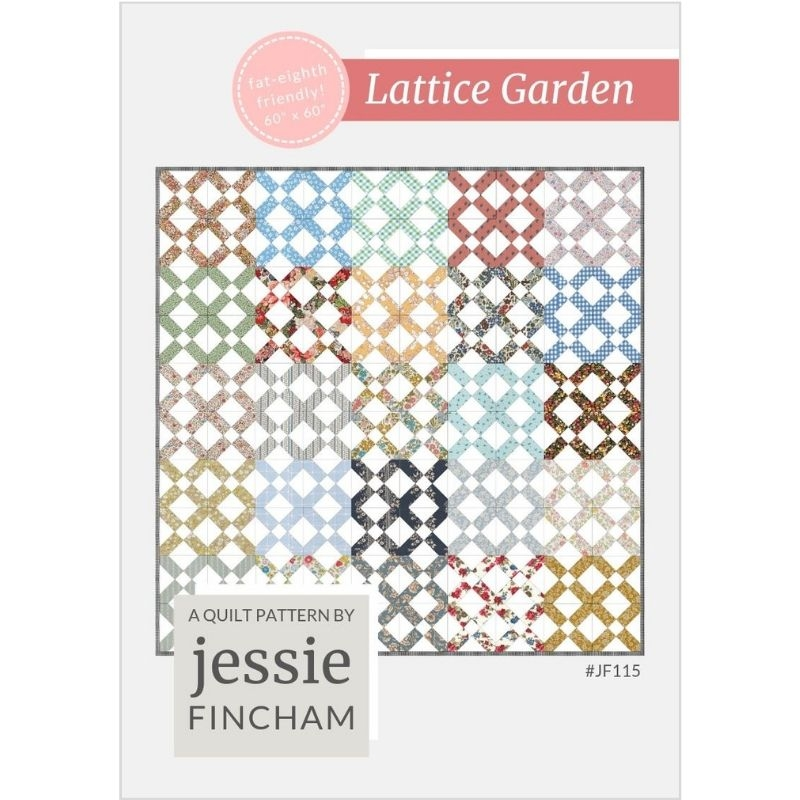 Lattice Garden quilt pattern front cover