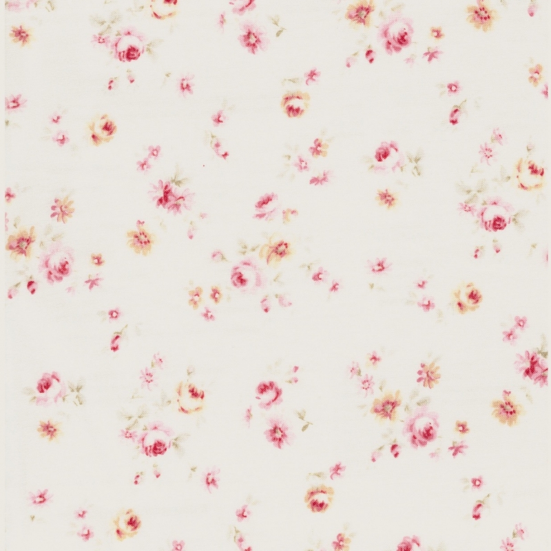 Lecien Durham soft pink floral on cream background