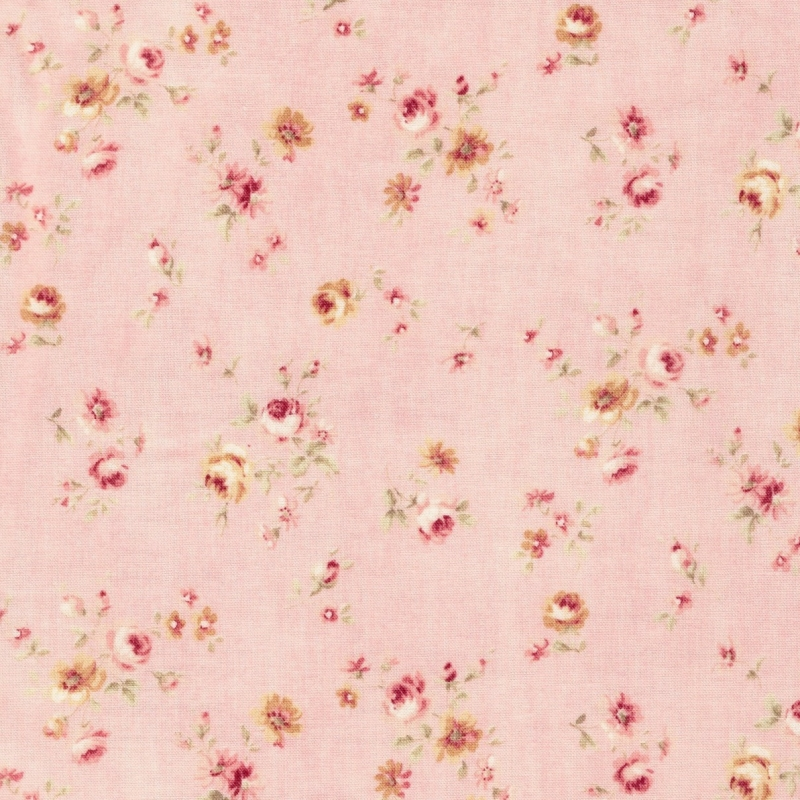 Lecien Durham soft pink floral on dusky pink background