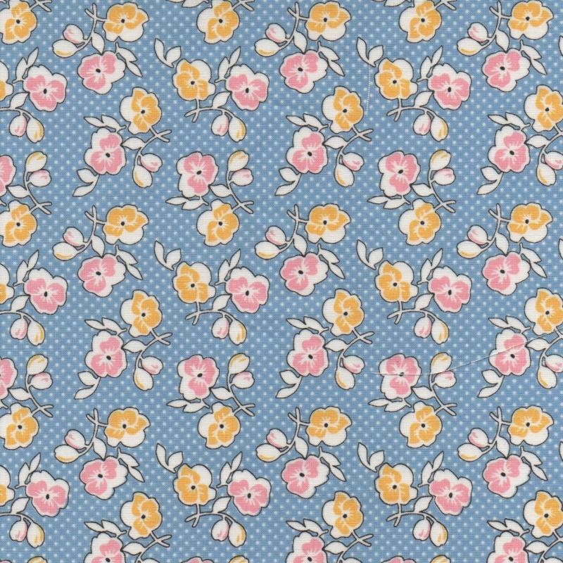 Lemonade Sundae Floral C7531-Blue