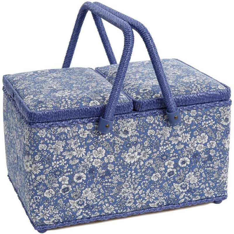 Liberty English Garden Sewing Basket Emily Silhouette Z