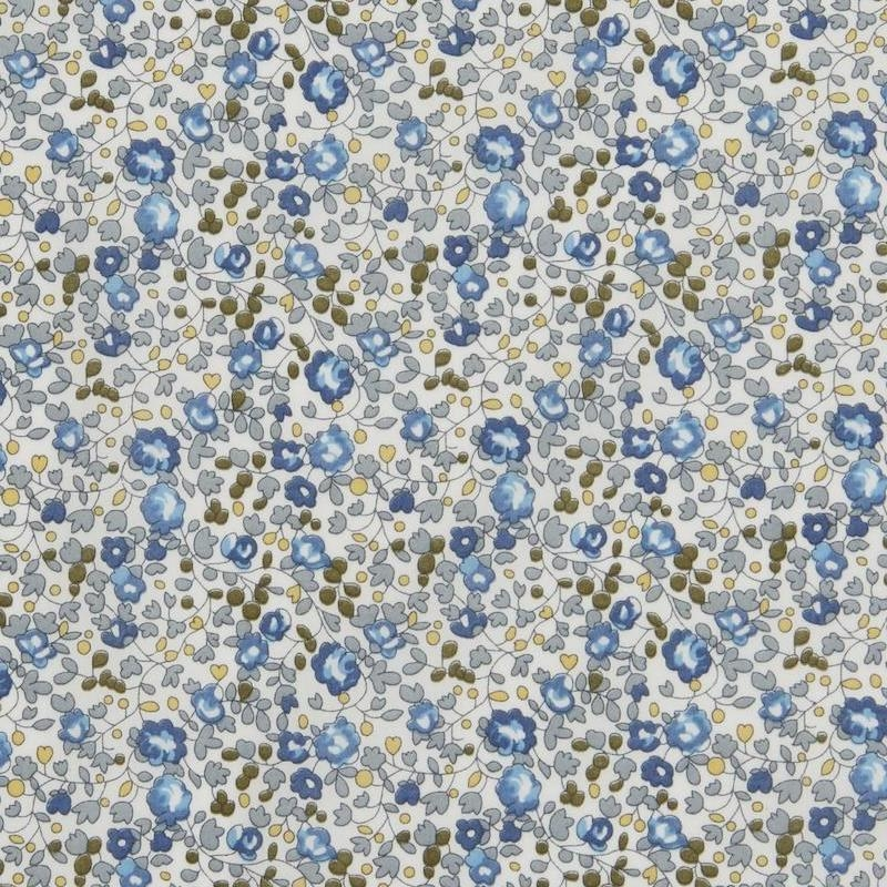 Liberty Eloise print small blue floral on white background