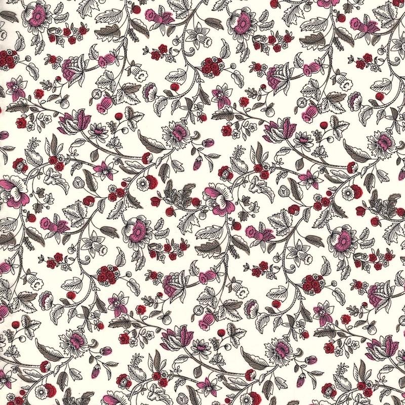 Liberty Fabrics Ornate Trail Piccadilly Cotton Poplin