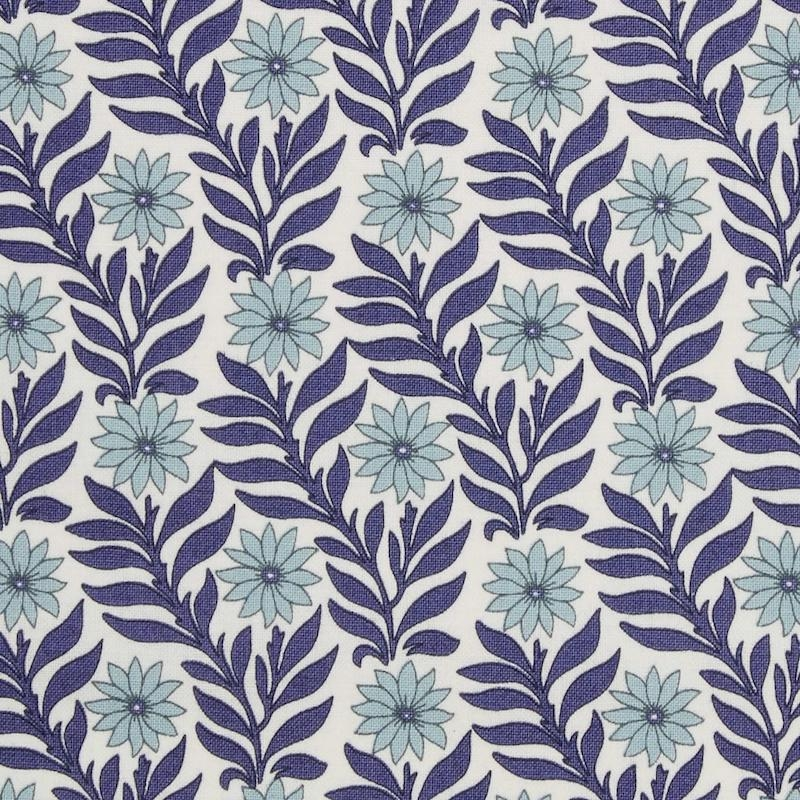 Liberty fabric Hesketh blue Marigold printed on quilting cotton