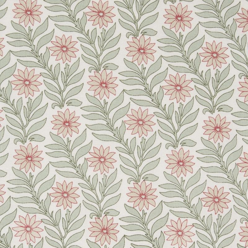 Liberty fabric Hesketh pale green and pink floral Marigold quilting cotton