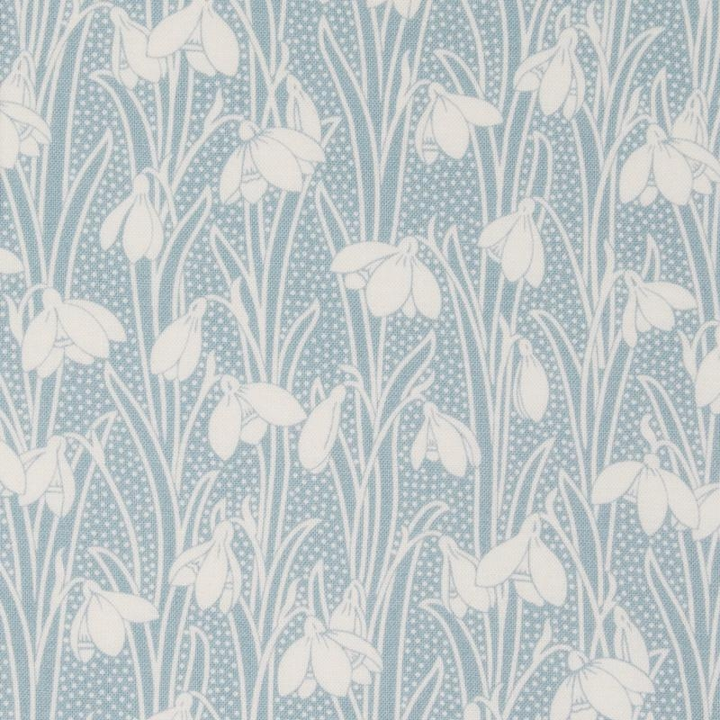 Liberty fabric Hesketh Pale Blue printed on quilting cotton