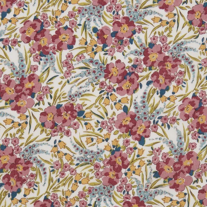 Liberty Swirling Petals B Green Tana Lawn™