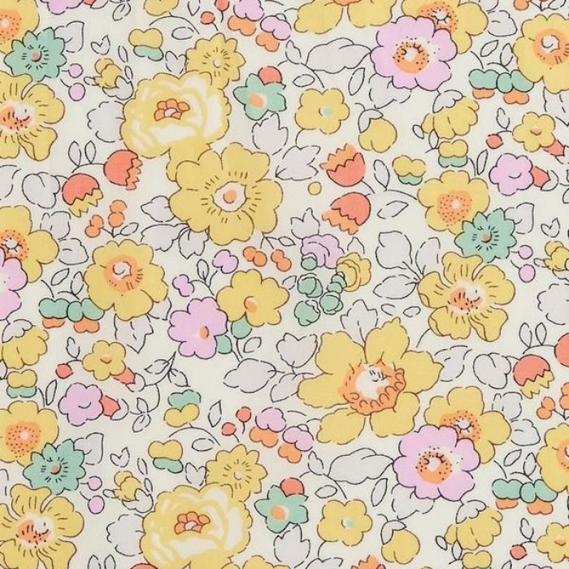 Liberty Betsy yellow W Tana Lawn Cotton
