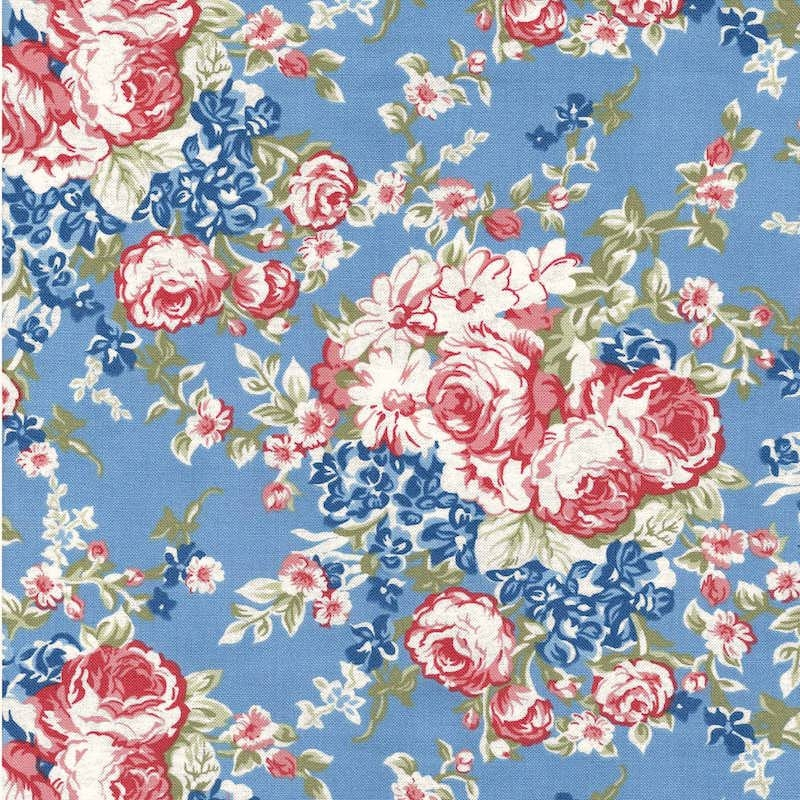 Mackinac Island Blue Faded Roses 14890-14