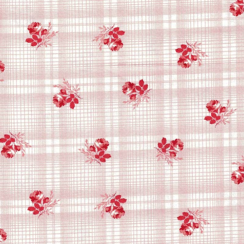 Mackinac Island Rose Printed Plaid | 14895-11