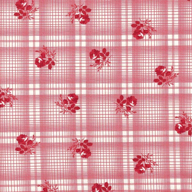 Mackinac Island Red Printed Plaid | 14895-13