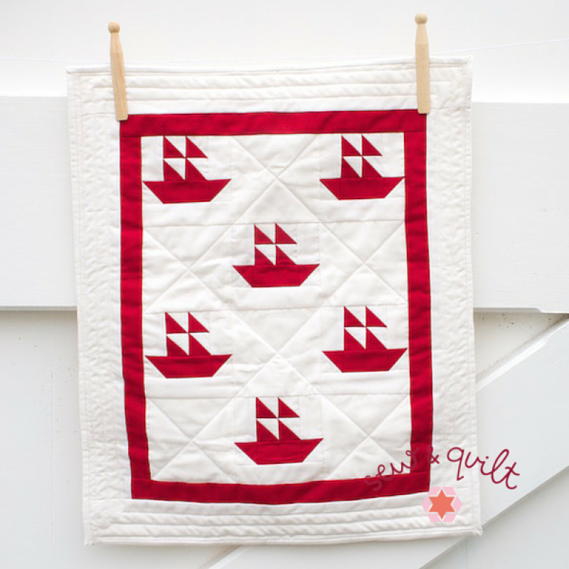 Naturally Nautical Sailboat Mini Quilt Pdf Pattern Sew
