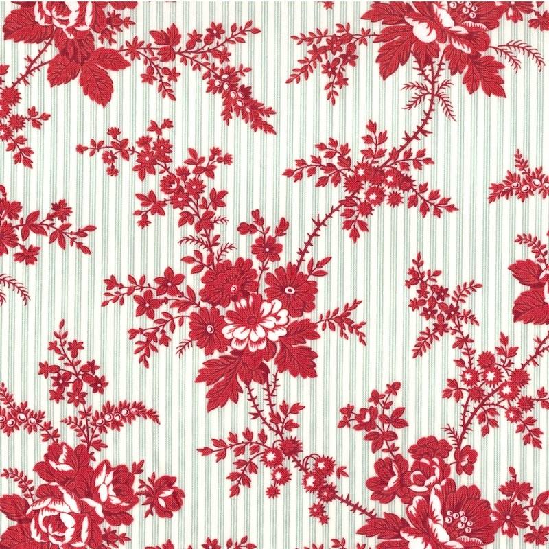 Northport Prints Red on Blue Cottage Curtains | 14880-11