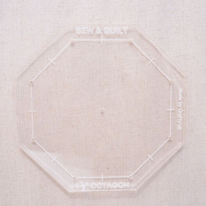 Octagon-acrylic-template-fussy-cutting