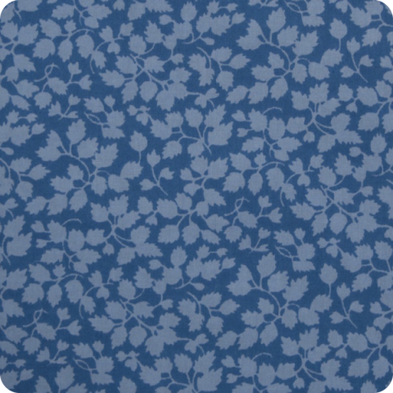 Liberty Glenjade blue tone on tone blue floral Tana Lawn cotton fabric
