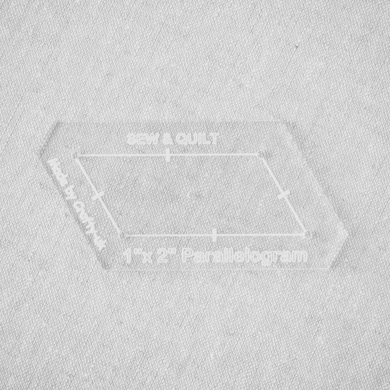 "Acrylic Cutting Template 1"" x 2"" Parallelogram"