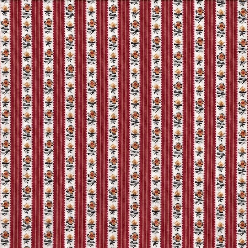 Petite Perennials Red Floral Stripe   52532-7