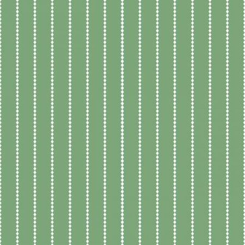 Poppy And Posey Stripes Green cotton quilting cotton fabric