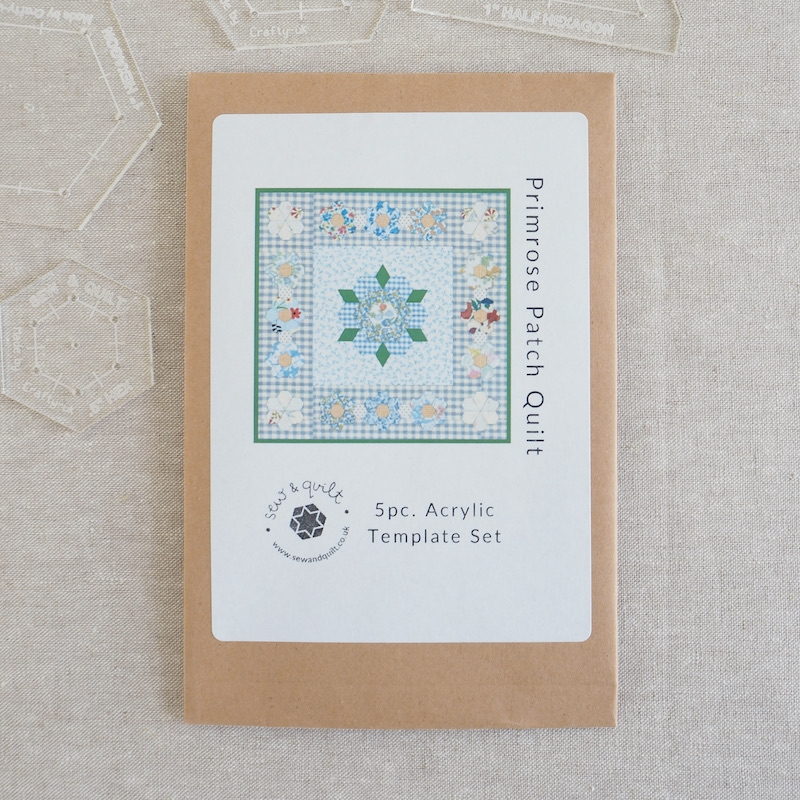 Primrose Patch acrylic template set for EPP