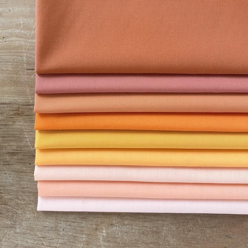 Art Gallery Fabrics Pure Solids Orange Fat Quarter Bundle